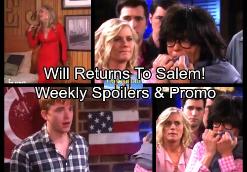 Days of Our Lives Spoilers: Weekly Spoilers - Kristen's Back with a Bombshell, the Real EJ's Alive – Will Returns to Salem