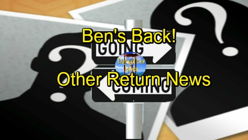 Days of Our Lives Spoilers: Comings and Goings – Ben's Back – Kyle Lowder Return News – Drake Hogestyn's Major Milestone