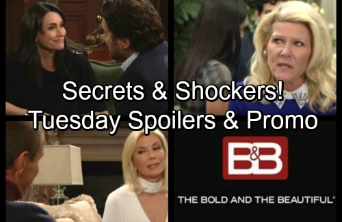 The Bold and the Beautiful Spoilers: Tuesday, November 28 - Thorne and Brooke Exchange Confessions – Sheila Shocks Pam
