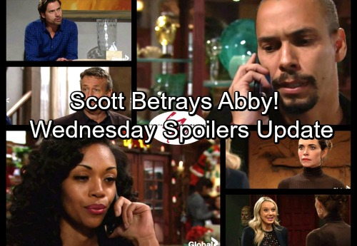 The Young and the Restless Spoilers: Wednesday, November 29 Update - Scott Betrays Abby – Sharon Suspects – Hilary Breaks Down