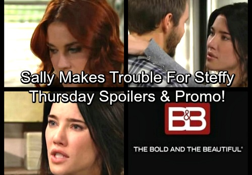 The Bold and the Beautiful Spoilers: Thursday, Nov 30 - Coco Grills Sneaky Sally – Liam's Surprise Visit – Bill Warns Steffy