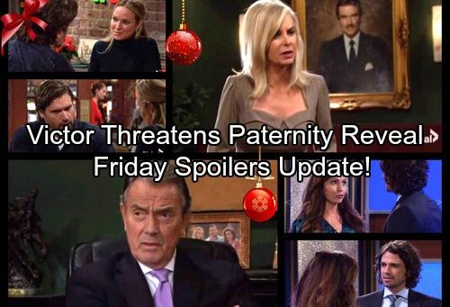 The Young and the Restless Spoilers: Friday, Dec 1 - Victor Threatens Paternity Reveal – Lily Sacrifices For Baby Sam