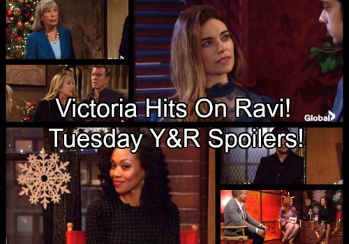The Young and the Restless Spoilers: Tuesday, December 5 - Victoria Hits On Ravi - Mariah Stunned by Hilary's Dirt on Tessa