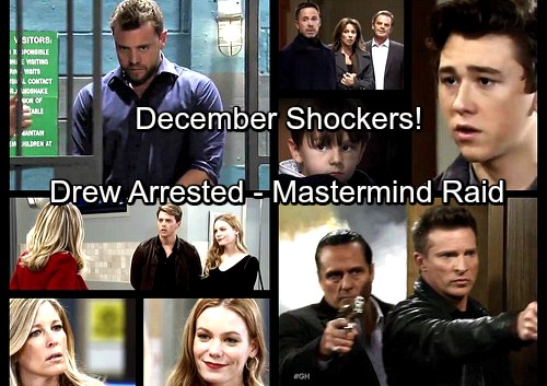 General Hospital Spoilers: December Shockers - Drew Arrested - Jason and Sonny Mastermind Attack - Oscar's Paternity Results