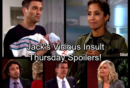 The Young and the Restless Spoilers: Thursday, Dec. 7 - Lily Panics Over Baby Sam -Jack Reminds Ashley She Isn't A Real Abbott