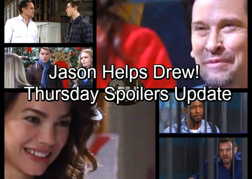 General Hospital Spoilers: Thursday, December 7 Update – Drew Blasts Andre – Jason Steps Up for Sam – Michael Faces Baby Shocker