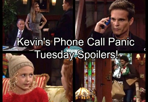 The Young and the Restless Spoilers: Tuesday, December 12 - Kevin Panics Over Audit Anomaly – Faith Hates Cheating Scott
