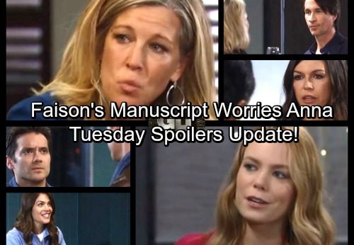 General Hospital Spoilers: Tuesday, December 12 Update – Faison Manuscript Worries Anna - Nelle Gets Nasty – Britt's Happy Surprise