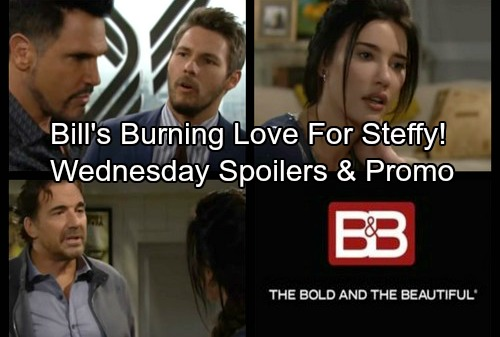 The Bold and the Beautiful Spoilers: Wednesday, December 13 - Bill Hides His Love For Steffy – Ridge and Steffy Have Big Plans