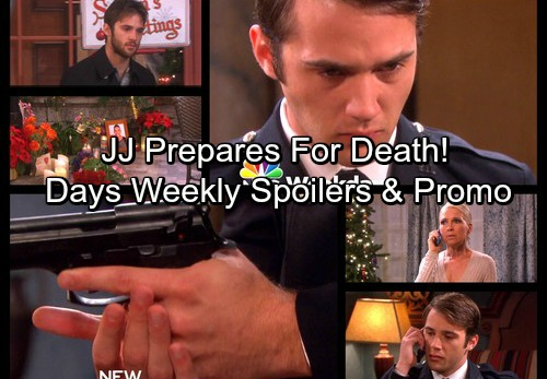 Days of Our Lives Spoilers: Week of December 18 - JJ Prepares to Commit Suicide – Christmas Romance and Surprises Elsewhere