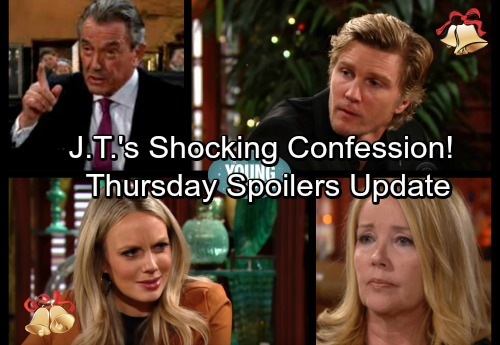 The Young and the Restless Spoilers: Thursday, December 21 Update - Nikki's Infuriating Discovery – J.T. Confesses To Victoria