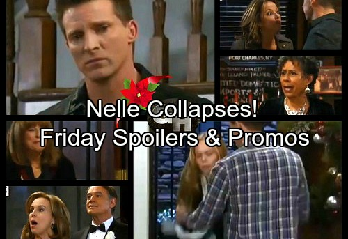 General Hospital Spoilers: Friday, December 22 – Nelle Collapses in Michael's Arms – Jason's Sad Christmas - Surprise Wedding Guest