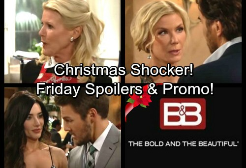 The Bold and the Beautiful Spoilers: Liam Preps for Baby, Steffy Fears Paternity Test Results - Ridge and Brooke Christmas Shocker