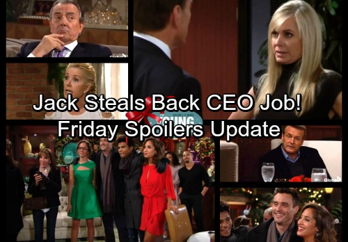 The Young and the Restless Spoilers: Friday, December 22 Update - Jack Steals Back Ashley's CEO Position With Dirty Move