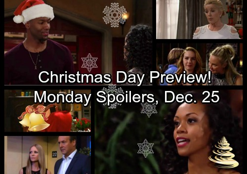 The Young and the Restless Spoilers: Monday, December 25 - Hilary Faces Ghost of the Past – Sharon and Mariah Christmas Shockers