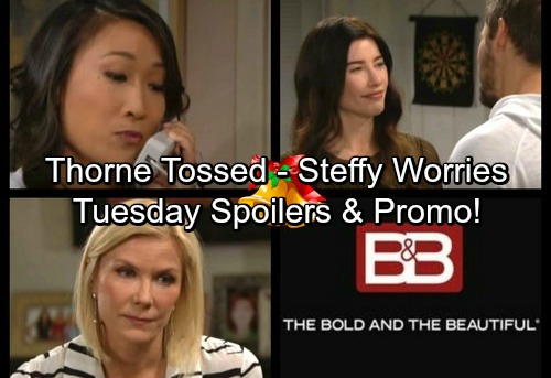 The Bold and the Beautiful Spoilers: Tuesday, December 26 - Steffy's Paternity Anxiety – Brooke Throws Thorne Out