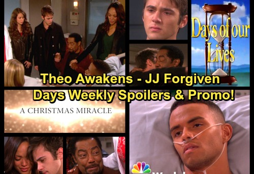 Days of Our Lives Spoilers: Week of December 25 - JJ Forgiven, Theo Wakes Up – Kate Comes Clean to Abe – Hope's Wonderful News