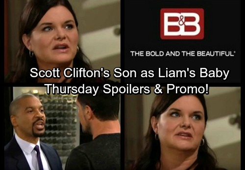 The Bold and the Beautiful Spoilers: Steffy's Fantasy, Scott Clifton's Real-Life Son Plays Liam's Baby – Justin Blasts Rotten Bill