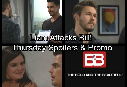 The Bold and the Beautiful Spoilers: Thursday, January 4 - Bill Faces Liam's Rage, Brawl Ensues – Steffy Runs To Katie