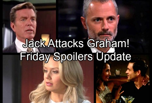 The Young and the Restless Spoilers: Friday, January 5 Update - Graham Made Dina Take Christian - Jack Knees Rival In The Groin