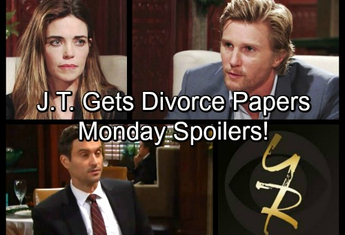 The Young and the Restless Spoilers: Monday, January 8 - J.T. Faces Devastating Blow, Mac Sends Divorce Papers