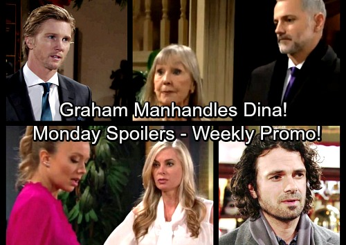 The Young and the Restless Spoilers: Monday, January 8 Update - Graham Manhandles Poor Dina, J.T. Steps In – Abby Confesses to Ashley