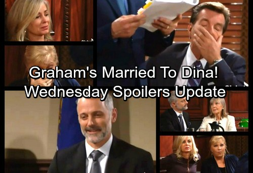 The Young and the Restless Spoilers: Wednesday, January 10 - Graham Reveals Secret Marriage to Dina In Courtroom Shocker