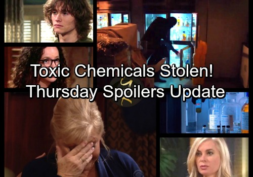 The Young and the Restless Spoilers: Thursday, January 11 Update -Toxic Compounds Stolen – Reed Sneaks Off After Sentencing