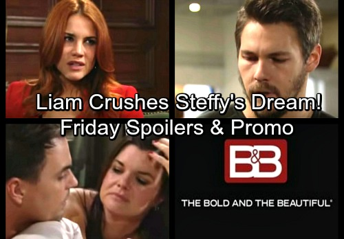 The Bold and the Beautiful Spoilers: Friday, January 12 - Sally Puts Hope on Notice – Liam Destroys Steffy's Reconciliation Dreams