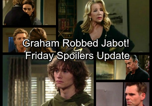 The Young and the Restless Spoilers: Friday, January 12 Update - Graham Robbed Jabot – J.T. and Victoria Get Passionate