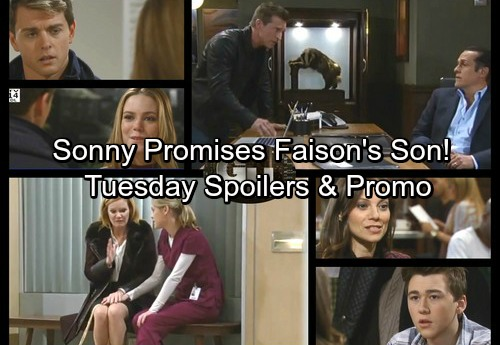 General Hospital Spoilers: Tuesday, January 16 – Drew's Awkward Dilemma – Sonny Promises Faison's Son – Michael and Nelle Clash