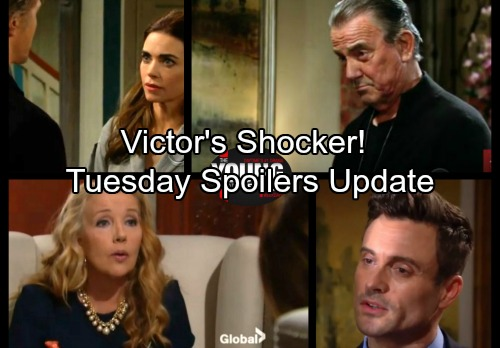 The Young and the Restless Spoilers: Tuesday, January 16 - Shocked Victor Interrupts J.T. and Victoria – Nikki's Big Idea