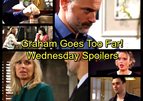 The Young and the Restless Spoilers: Wednesday, January 17 - Wicked Graham Goes Too Far – Tessa Shocker - Abby's Stunning Visitor