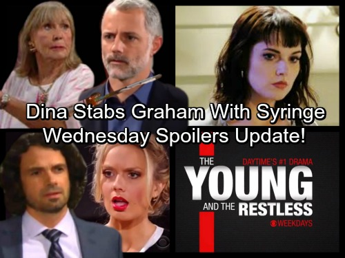 The Young and the Restless Spoilers: Wednesday, January 17 Update - Dina Stabs Graham with Toxic Syringe – Tessa's a Thief
