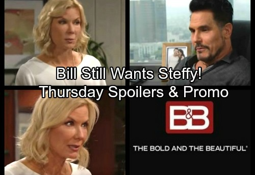 The Bold and the Beautiful Spoilers: Suspicious Ridge Grills Bill – Maya Has Bad News for Thorne – Steffy Opens Up to Brooke