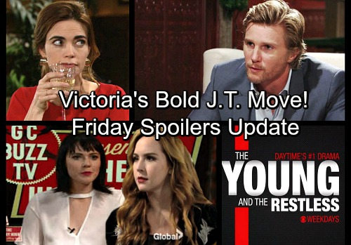 The Young and the Restless Spoilers: Friday, Jan 19 Update - Mariah Explodes on The Hilary Hour – Victoria Asks J.T. to Move In