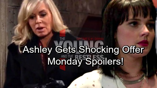 The Young and the Restless Spoilers: Monday, January 22 - Ashley Gets a Startling Offer – Tessa's Desperate Apology Fails