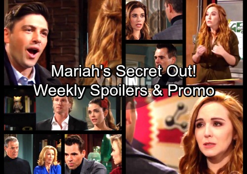 The Young and the Restless Spoilers: Week of January 22 - Noah Discovers Mariah's Truth – Billy Outraged Over Victoria and J.T.