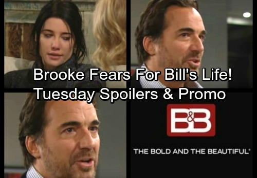 The Bold and the Beautiful Spoilers: Tuesday, January 23 - Brooke Hears Steffy's Shocker, Fears Ridge Will Kill Bill