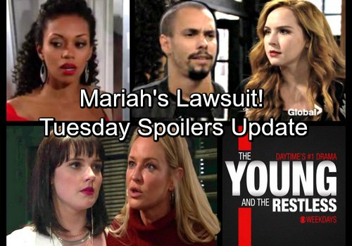 The Young and the Restless Spoilers: Tuesday, January 23 Update - Mariah Rattles Devon with Lawsuit – Hilary's Disastrous Date