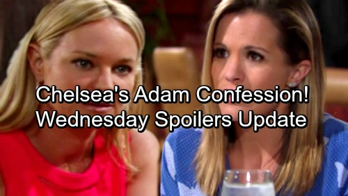 The Young and the Restless Spoilers: Wednesday, January 24 Update - Chelsea's Adam Confession to Sharon – Hilary's Sperm Donor