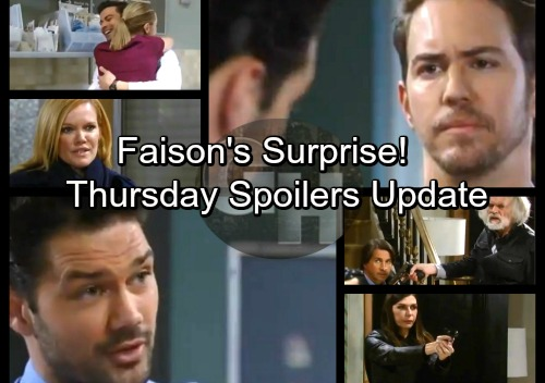 General Hospital Spoilers: Thursday, January 25 Update – Faison's Surprise – Amy Gives Maxie Baby News - Ava Grills Franco