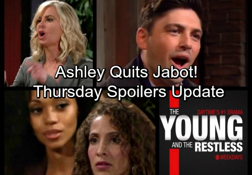 The Young and the Restless Spoilers: Thursday, January 25 - Ashley's Shocking Resignation – Hilary's Selling GC Buzz
