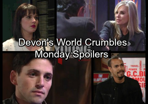The Young and the Restless Spoilers: Monday, January 29 - Victoria Fights Ashley's New Job - Devon's World Falls Apart