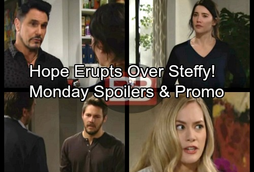 The Bold and the Beautiful Spoilers: Monday, January 29 - Hope's Rage Erupts At Steffy – Bill's Offer Rejected by Steffy