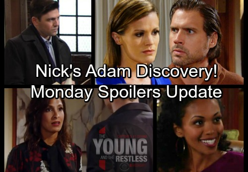 The Young and the Restless Spoilers: Monday, January 29 Update - Nick's Shocking Adam Discovery – Lily Lies – Hilary's Baby News