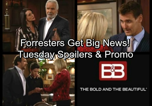 The Bold and the Beautiful Spoilers: Tuesday, January 30 - Forresters Gather for Shocking News