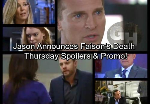 General Hospital Spoilers: Thursday, February 1 – Jason Delivers Faison Death News – Drew Seeks Liz's Help – Nelle's Next Scheme