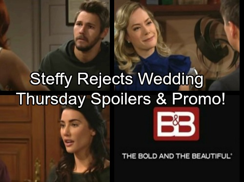 The Bold and the Beautiful Spoilers: Thursday, February 1 - Hope and Wyatt Awkward – Sally Stalks Liam – Steffy Rejects Wedding