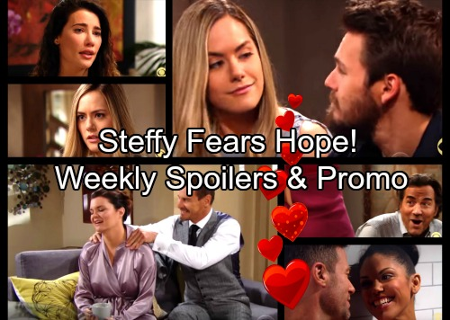 The Bold and the Beautiful Spoilers: Week of Feb 12 - Steffy's Hope Paranoia – Brooke's Sexy Surprise – Thorne's Play for Katie